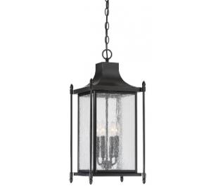 Dunnmore 4 Loftlampe 29 x 29 cm - Sort/Klar med dråbe effekt