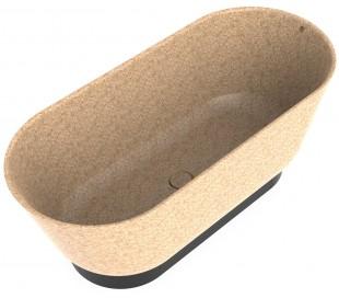 Woodio Flow fritstående badekar 160 x 70 cm ECO - Natural aspen