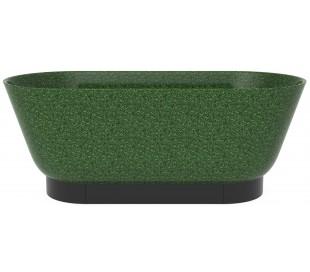 Woodio Flow fritstående badekar 160 x 70 cm ECO - Mosgrøn