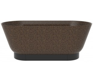 Woodio Flow fritstående badekar 160 x 70 cm ECO - Brun