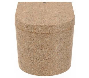 Woodio Block væghængt toilet H33 cm ECO - Natural aspen