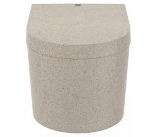 Woodio Block væghængt toilet H33 cm ECO - Polar hvid