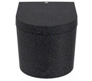 Woodio Block væghængt toilet H33 cm ECO - Charcoal