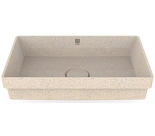 Woodio nedfældet håndvask 60 x 40 cm ECO - Polar hvid