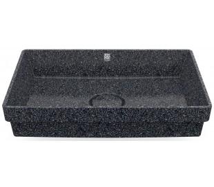 Woodio nedfældet håndvask 60 x 40 cm ECO - Stengrå