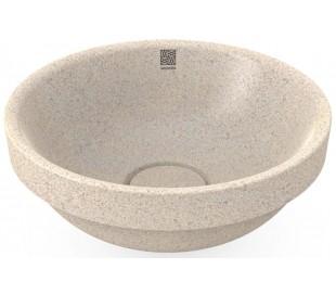 Woodio nedfældet håndvask Ø40 cm ECO - Polar hvid