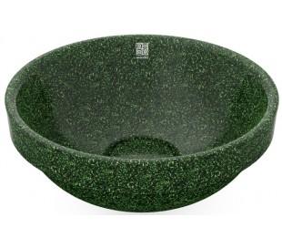 Woodio nedfældet håndvask Ø40 cm ECO - Mosgrøn