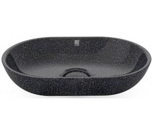Woodio håndvask 60 x 40 cm ECO - Charcoal