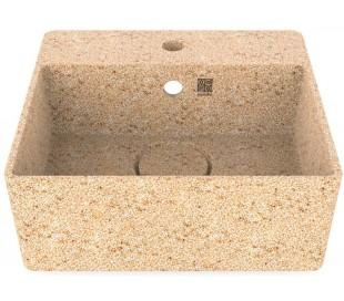 Woodio vægmonteret håndvask 40 x 40 cm ECO - Natural aspen