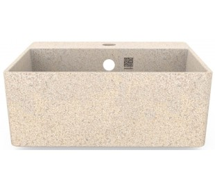 Woodio vægmonteret håndvask 40 x 40 cm ECO - Polar hvid
