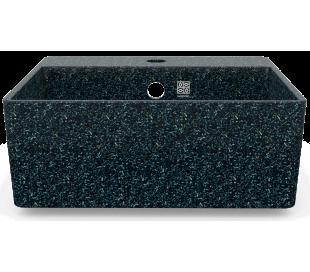 Woodio vægmonteret håndvask 40 x 40 cm ECO - Arktisk blå