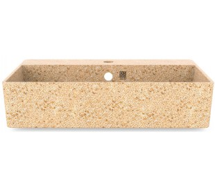 Woodio vægmonteret håndvask 60 x 40 cm ECO - Natural aspen