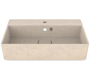 Woodio vægmonteret håndvask 60 x 40 cm ECO - Polar hvid