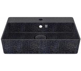 Woodio vægmonteret håndvask 60 x 40 cm ECO - Charcoal