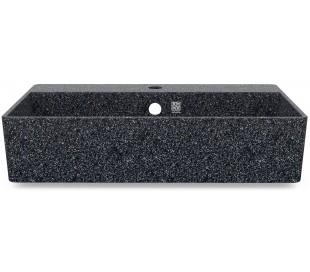 Woodio vægmonteret håndvask 60 x 40 cm ECO - Stengrå