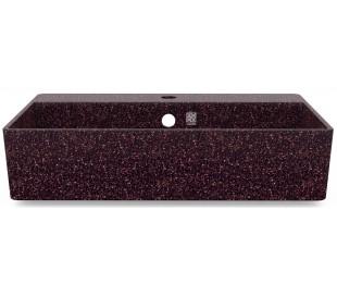 Woodio vægmonteret håndvask 60 x 40 cm ECO - Bær rød