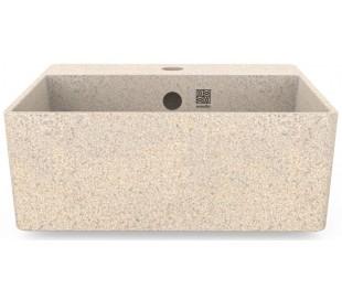 Woodio håndvask 40 x 40 cm ECO - Polar hvid