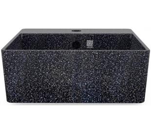 Woodio håndvask 40 x 40 cm ECO - Charcoal