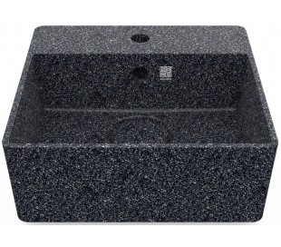 Woodio håndvask 40 x 40 cm ECO - Stengrå