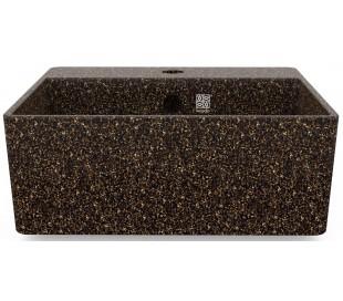 Woodio håndvask 40 x 40 cm ECO - Brun