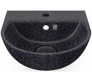 Woodio vægmonteret håndvask 40 x 40 cm ECO - Charcoal