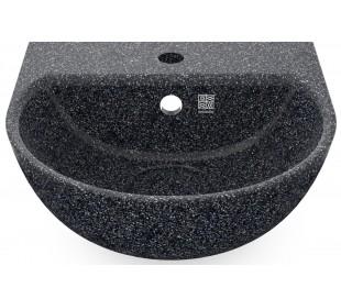 Woodio vægmonteret håndvask 40 x 40 cm ECO - Stengrå