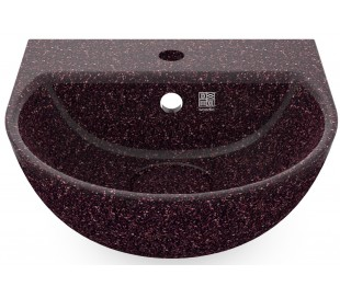 Woodio vægmonteret håndvask 40 x 40 cm ECO - Bær rød