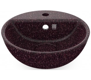 Woodio håndvask Ø40 cm ECO - Bær rød