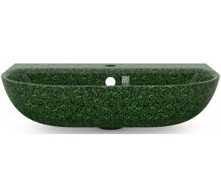 Woodio vægmonteret håndvask 60 x 40 cm ECO - Mosgrøn