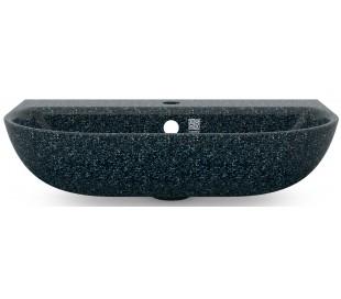 Woodio vægmonteret håndvask 60 x 40 cm ECO - Arktisk blå