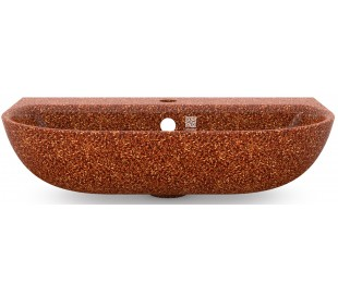 Woodio vægmonteret håndvask 60 x 40 cm ECO - Lerbrun