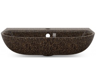 Woodio vægmonteret håndvask 60 x 40 cm ECO - Brun