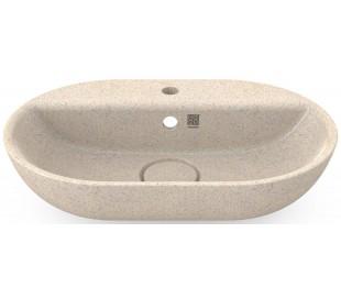Woodio håndvask 60 x 40 cm ECO - Polar hvid