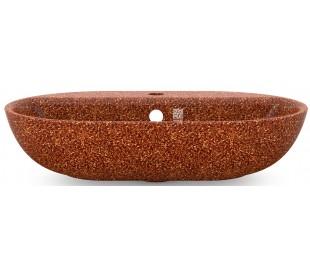 Woodio håndvask 60 x 40 cm ECO - Lerbrun