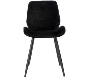 Miami Spisebordsstol i velour H78 cm - Sort/Sort