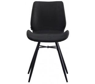 Barrel Spisebordsstol i øko-læder H81,5 cm - Sort/Vintage sort