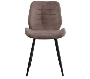 Toby Spisebordsstol i velour H77 cm - Sort/Taupe