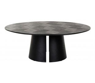 Blax rundt sofabord i egetræ og finér Ø110 cm - Sort