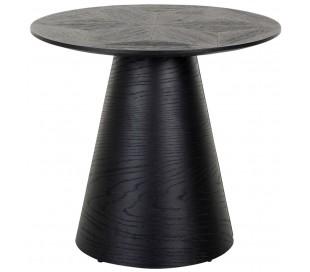 Blax rundt sofabord i egetræ og finér Ø58,5 cm - Sort