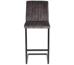 Milo barstol i velour og metal H100 cm - Sort/Antracit