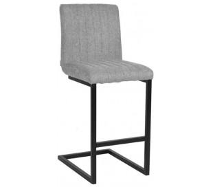 Milo barstol i tekstil og metal H100 cm - Sort/Zinkgrå