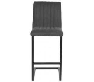 Milo barstol i tekstil og metal H100 cm - Sort/Antracit