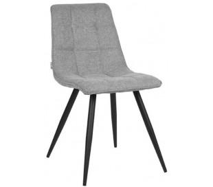 Jelt spisesbordsstol i tekstil og metal H85 cm - Sort/Zinkgrå