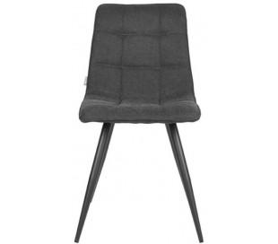 Jelt spisesbordsstol i tekstil og metal H85 cm - Sort/Antracit