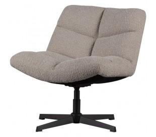 Rotérbar lænestol i metal og polyester H80 cm - Sort/Sand