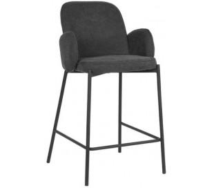 Jari barstol i polyester og metal H94 cm - Sort/Antracit
