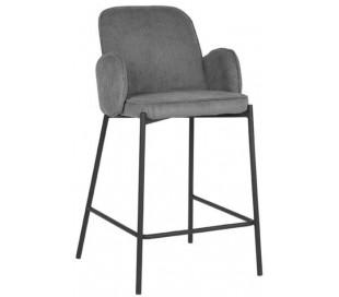 Jari barstol i ripcord polyester og metal H94 cm - Sort/Grå