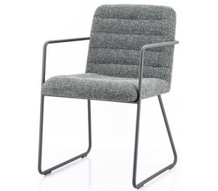 Artego spisebordsstol med armlæn i polyester H83 cm - Sort/Antracit