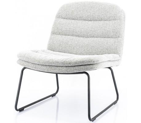 Bermo lænestol i polyester H78 cm - Sort/Lysegrå
