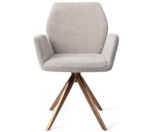 2 x Misaki Rotérbare Spisebordsstole H87 cm polyester - Rødguld/Grå